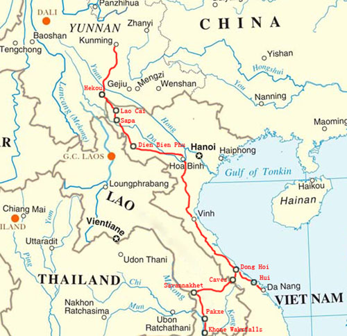 Canyons And Caves Of Vietnam And Laos We Love Canyons - Rivers of vietnam map